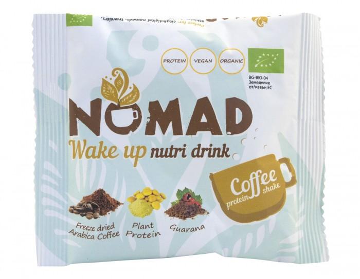Wake up – био разтворима протеинова напитка с кафе, Nomad,  16 г