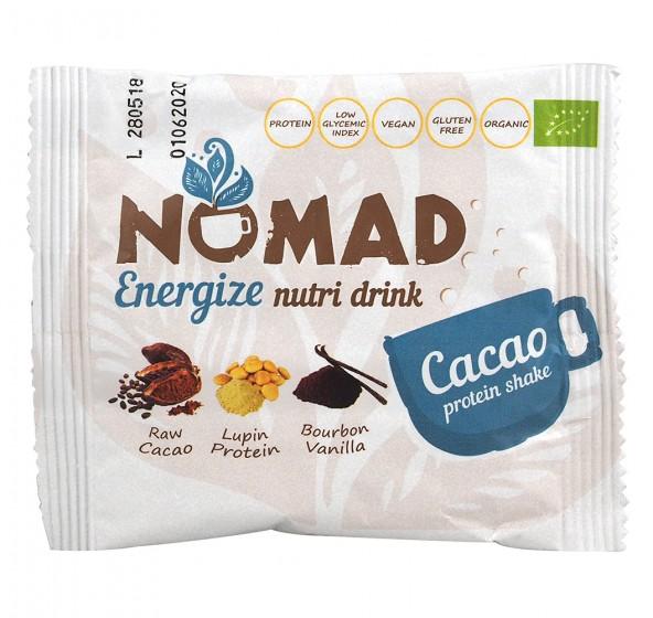 Energize - био разтворима протеинова напитка с какао, Nomad,  29 г