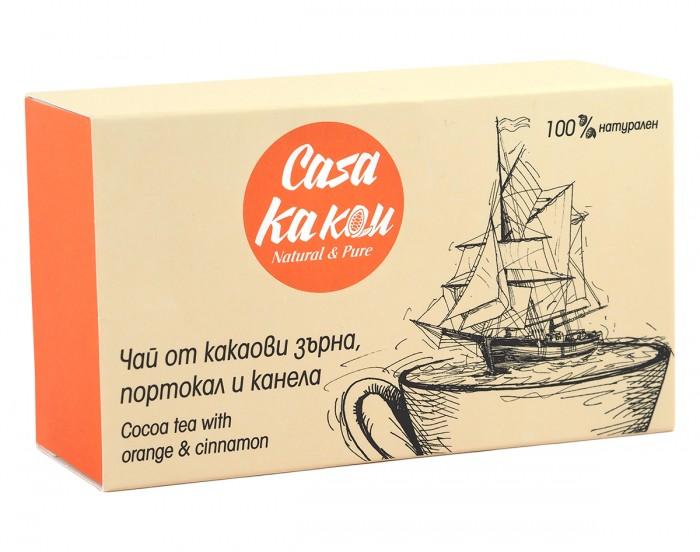 Чай от какаови зърна, портокал и канела - 36 г,  36 г