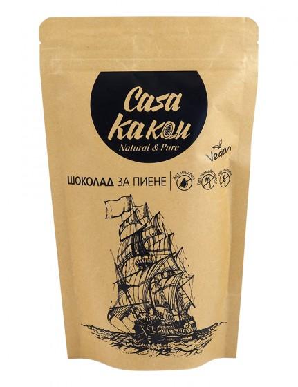 Шоколад за пиене - натурален вкус - 200 г, Casa Kakau,  200 г
