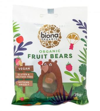 Био желирани мечета Mini Fruit Bears - без желатин - 75 гр
