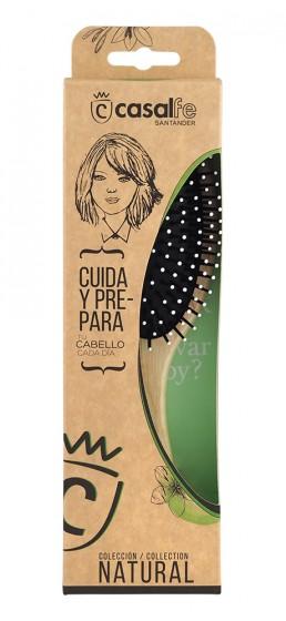 Овална дървена четка за коса със заоблени бодли, CasalFe,  1 бр