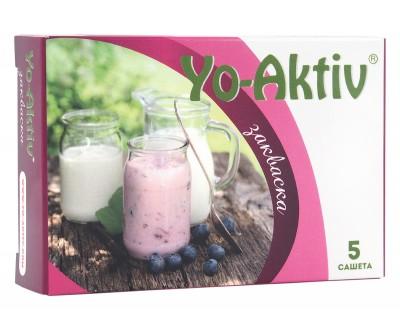 Закваска за домашно кисело мляко Yo-Aktiv - 5 бр