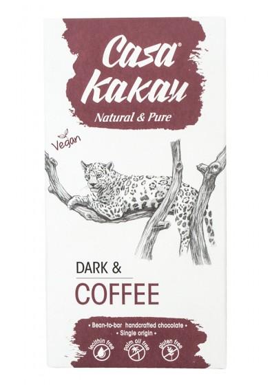 Черен шоколад с кафе - 70 г, Casa Kakau,  70 г