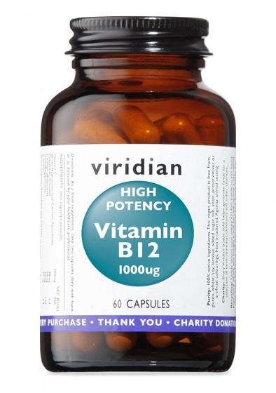 Витамин B12 1000 мкг – 60 капсули, Viridian,  60 бр