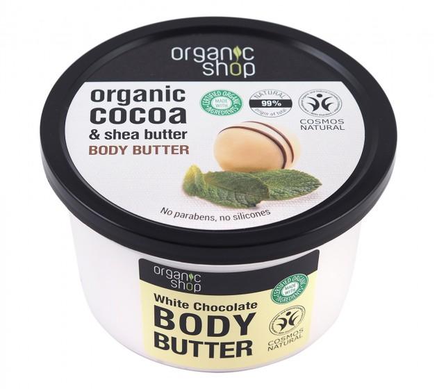 "Масло за тяло ""Бял шоколад"" - 250 мл, Organic Shop,  250 мл"