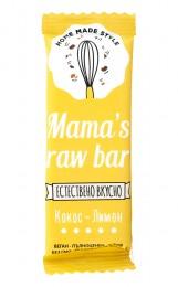 Суров бар Кокос и лимон - 30 г, Mama's raw bar,  30 г