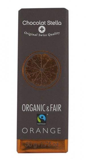 Био черен шоколад с портокалови кори - 50 г,  50 г