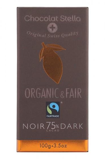 Био черен шоколад 75% - 100 г,  100 г