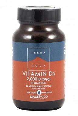 Витамин D3 2000IU комплекс - 50 капсули