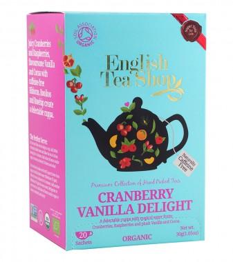Органичен чай с червена боровинка и ванилия