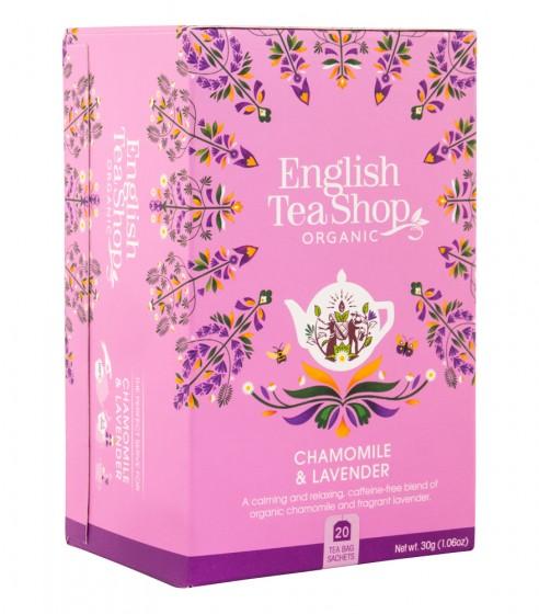 Органичен чай с лайка и лавандула, English tea shop,  20 бр