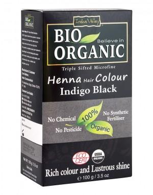 Organic Henna Hair Color - Black - 100g