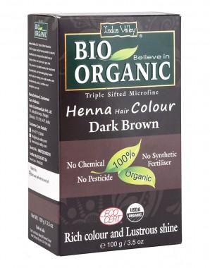 Био билкова боя за коса - тъмнокестеняво - 100 г