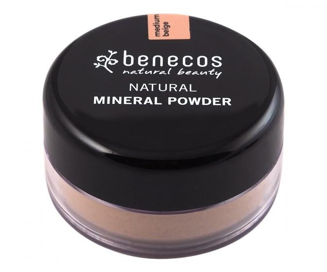 Минерална пудра Medium beige - 10 г, Benecos,  1 бр