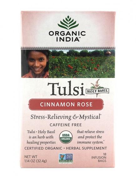 Чай Тулси - Канелена роза - био,  18 бр
