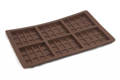 Силиконова форма за шоколад - 6 квадратни отделения